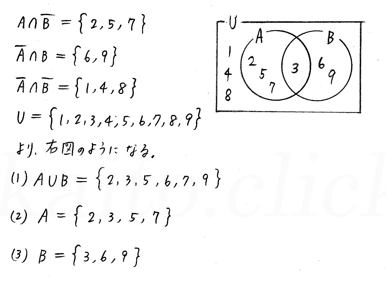 改訂版4プロセス数学Ⅰ-100解答