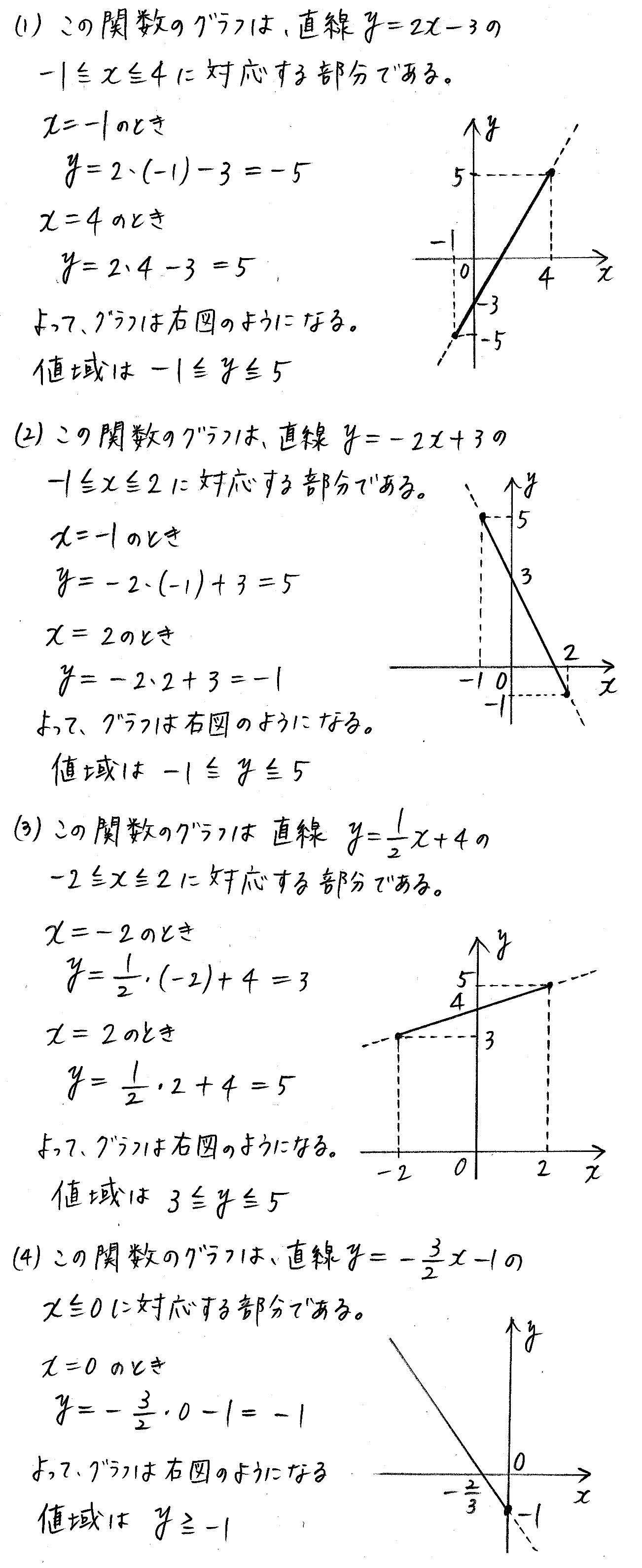 改訂版4プロセス数学Ⅰ-125解答