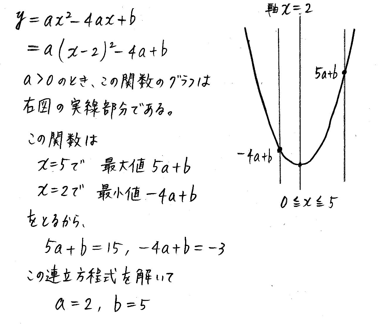 改訂版4プロセス数学Ⅰ-149解答