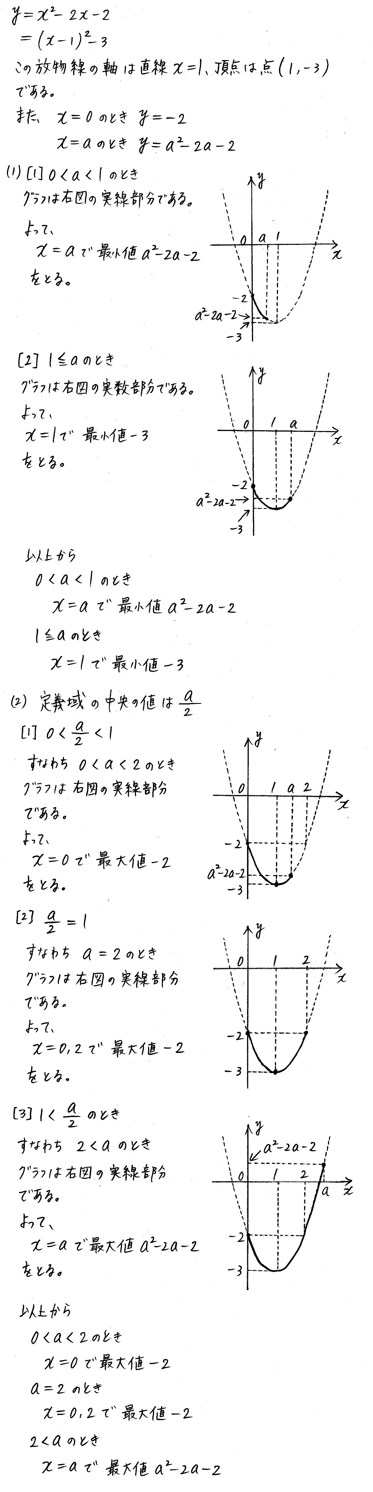 改訂版4プロセス数学Ⅰ-151解答