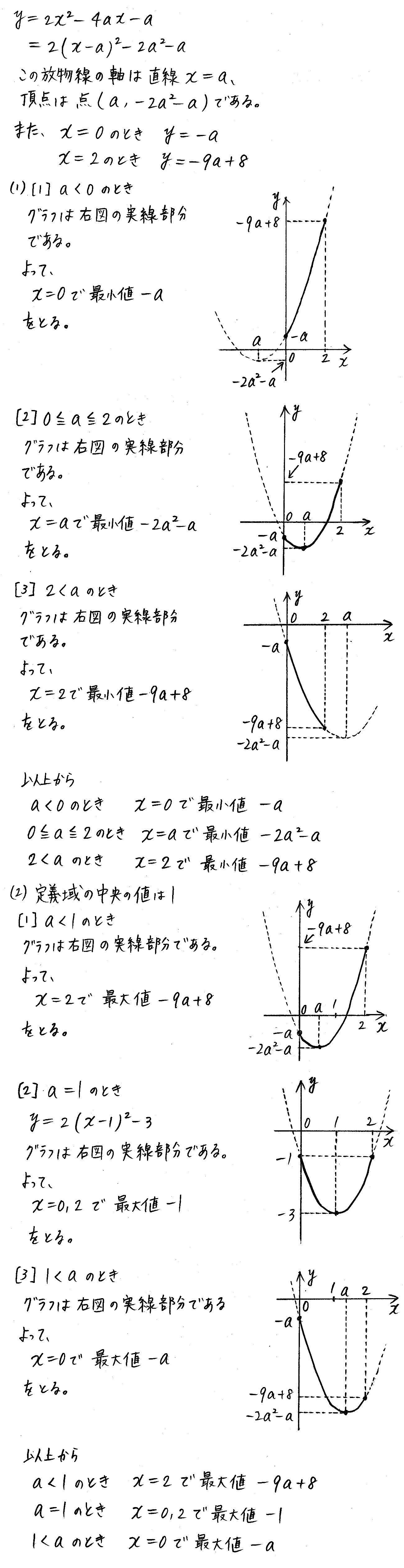 改訂版4プロセス数学Ⅰ-152解答
