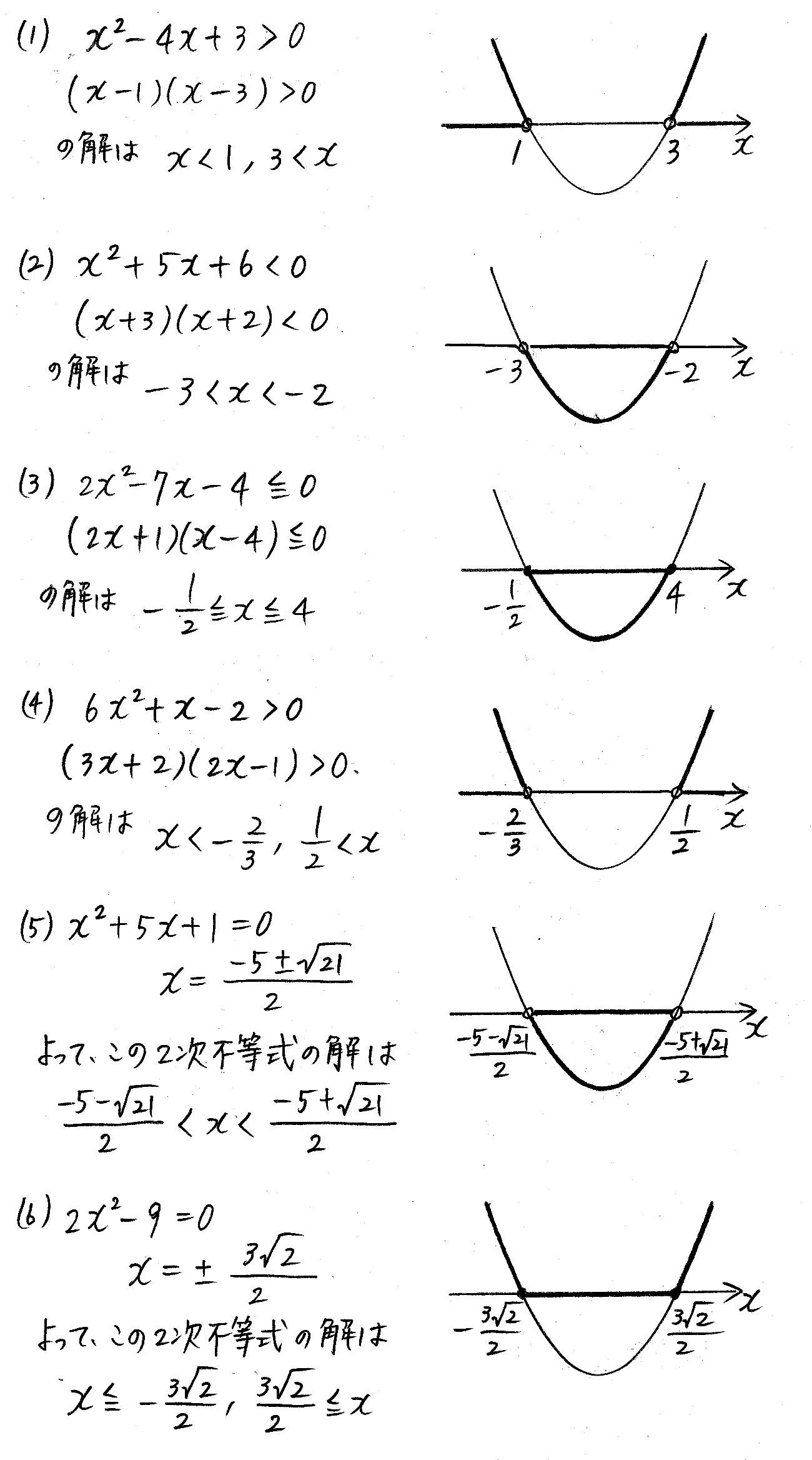 改訂版4プロセス数学Ⅰ-194解答