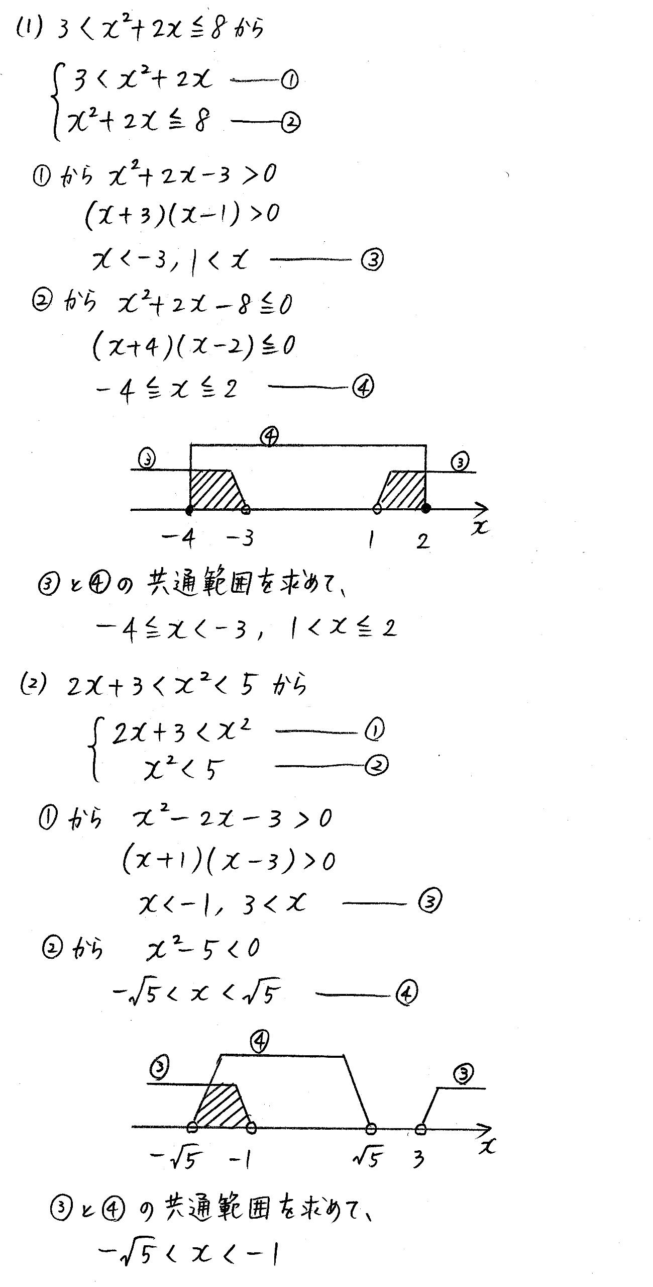 改訂版4プロセス数学Ⅰ-200解答