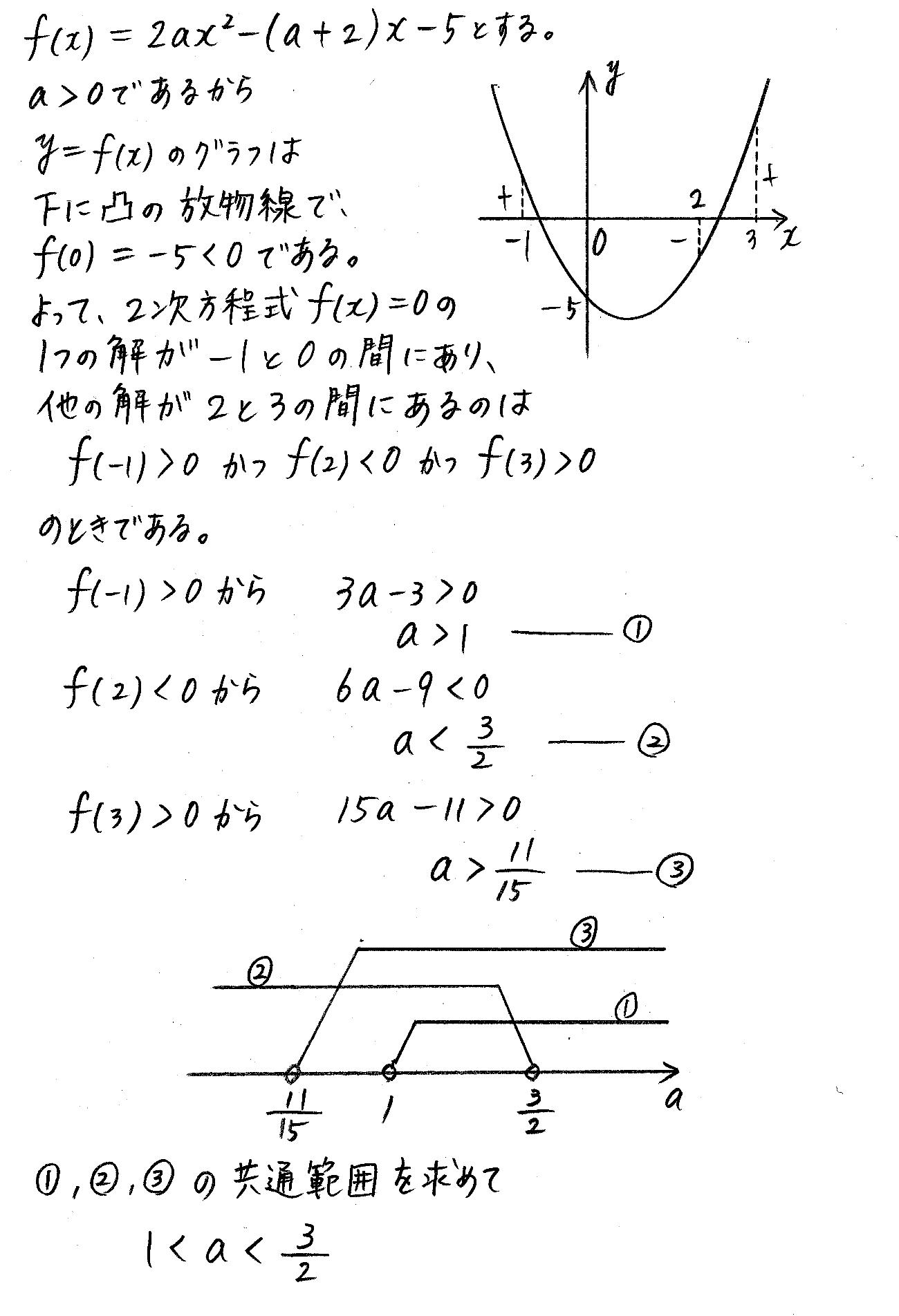 改訂版4プロセス数学Ⅰ-220解答