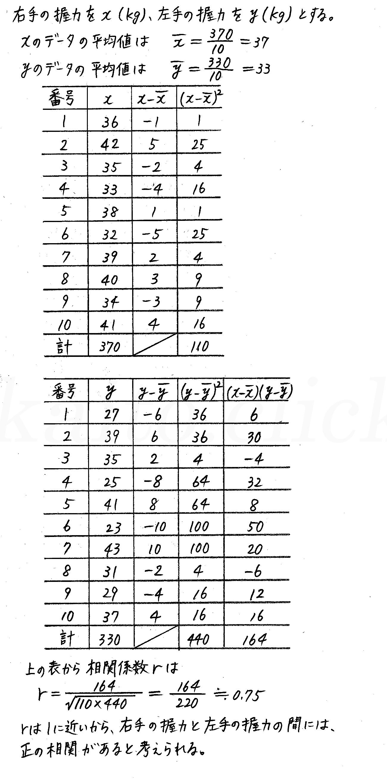 改訂版4プロセス数学Ⅰ-322解答