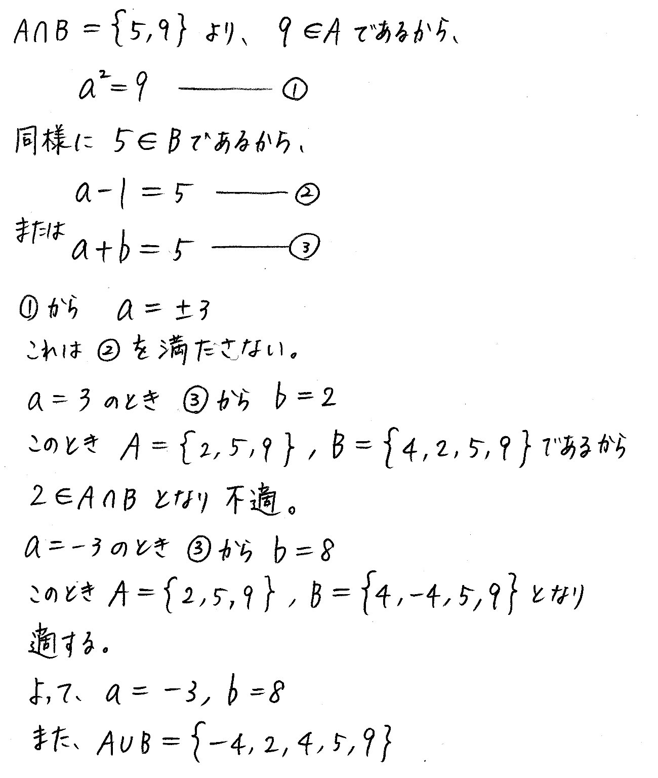 改訂版4プロセス数学Ⅰ-演習14解答