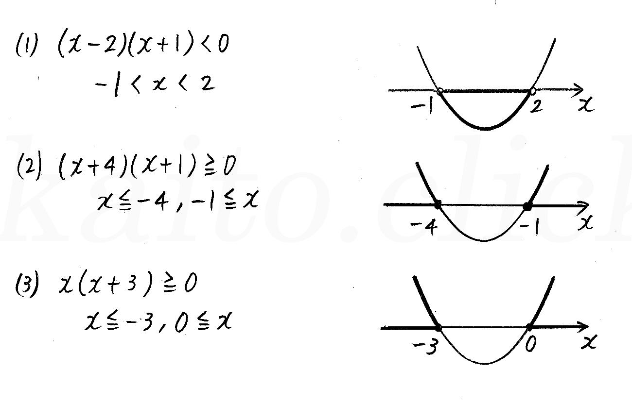 改訂版4STEP数学1-196解答