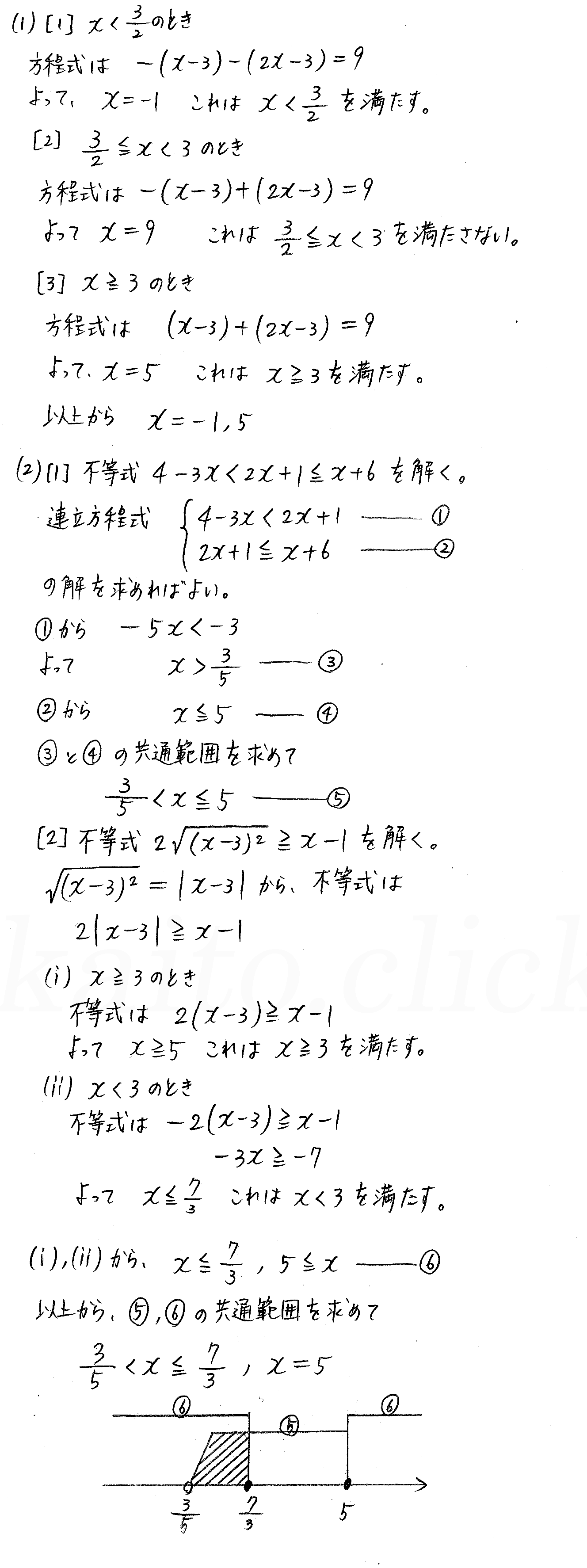 改訂版4STEP数学1-演習4解答