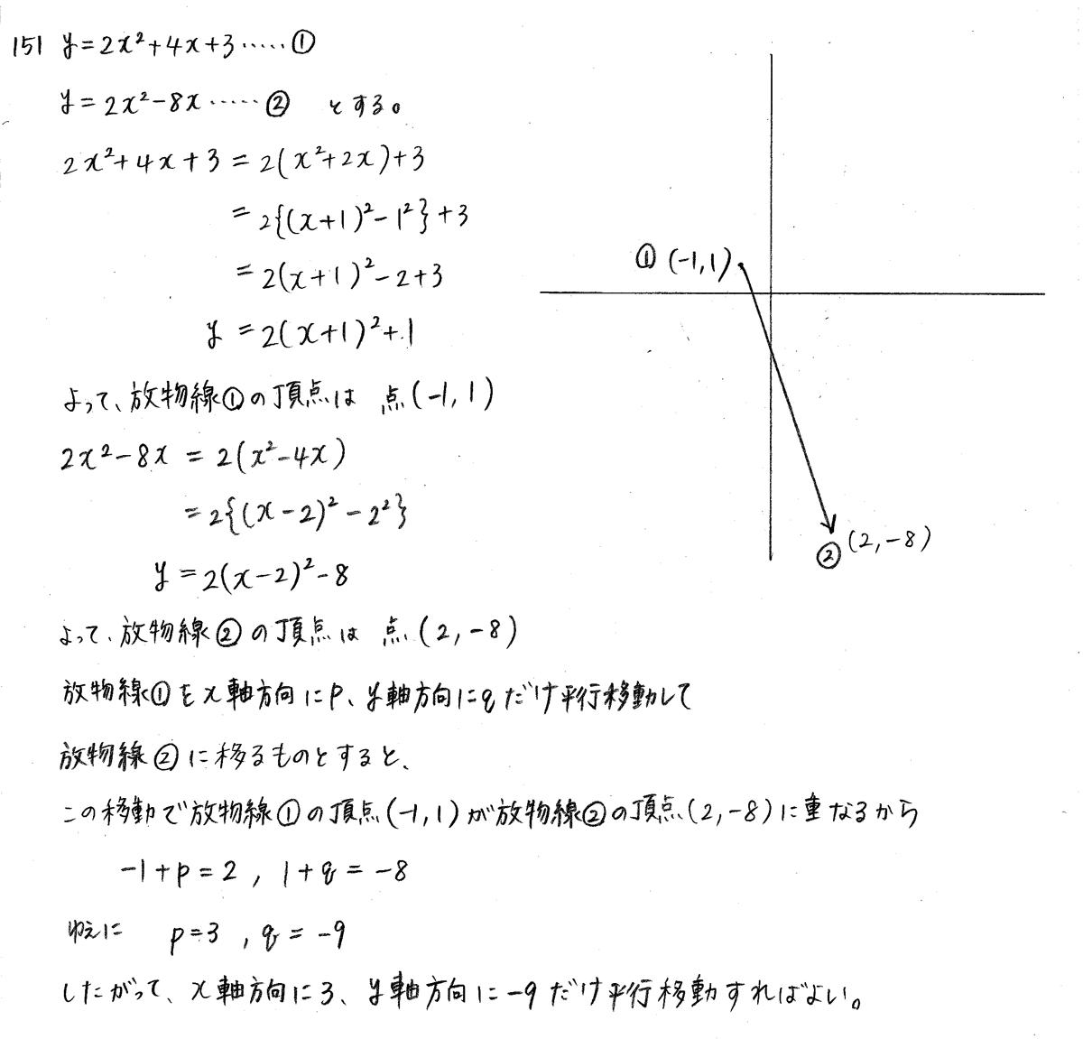 クリアー数学1-151解答