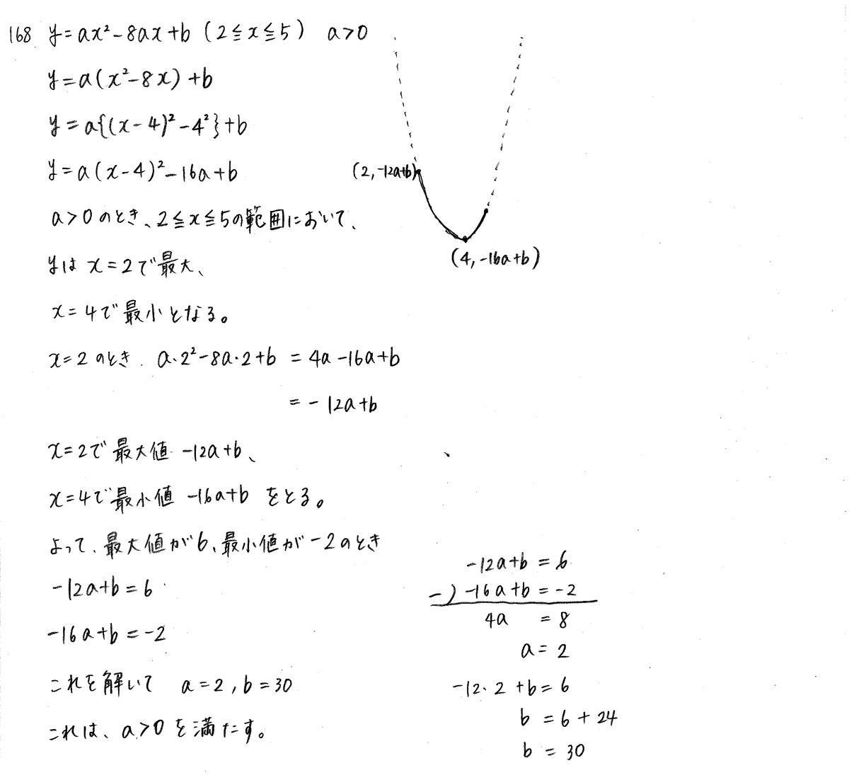 クリアー数学1-168解答