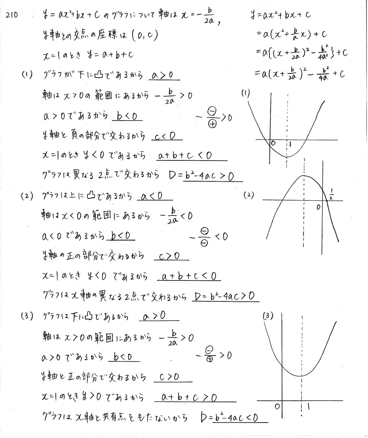 クリアー数学1-210解答