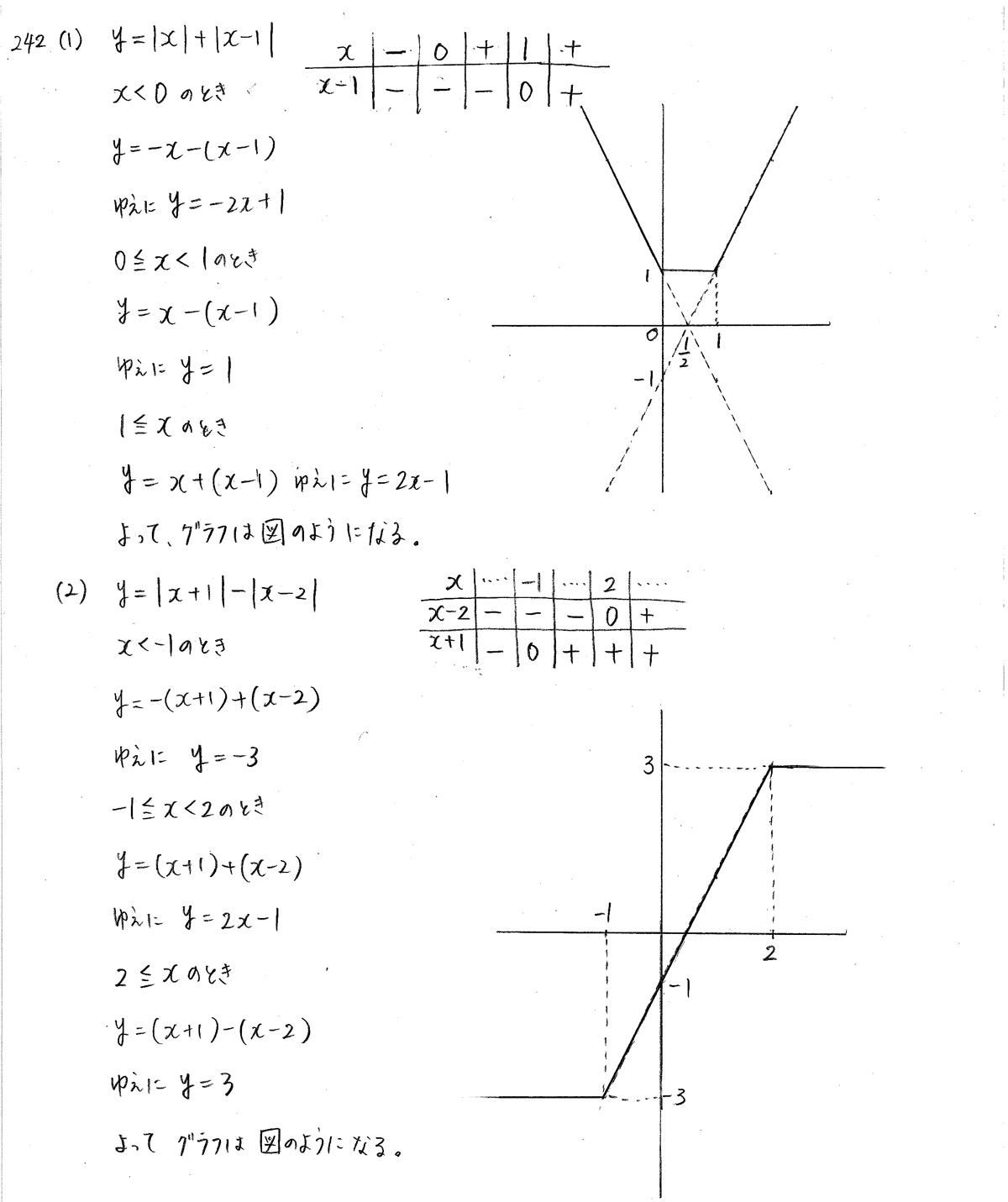 クリアー数学1-242解答