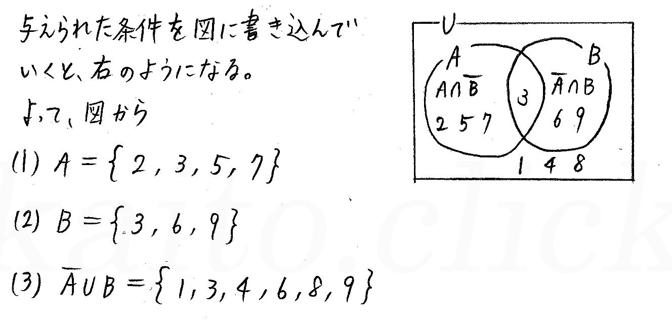 クリアー数学1-115解答