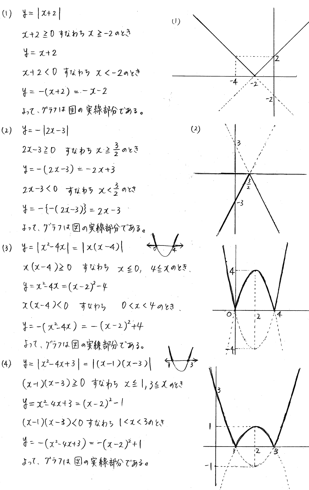 クリアー数学1-249解答