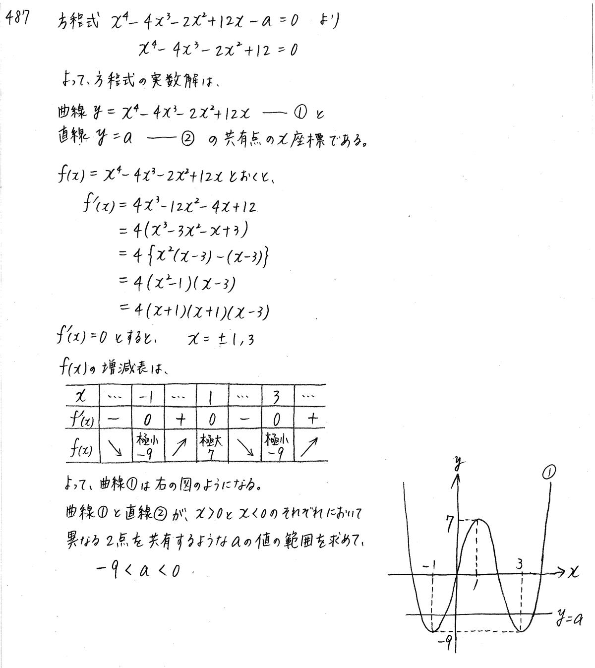 クリアー数学2-487解答